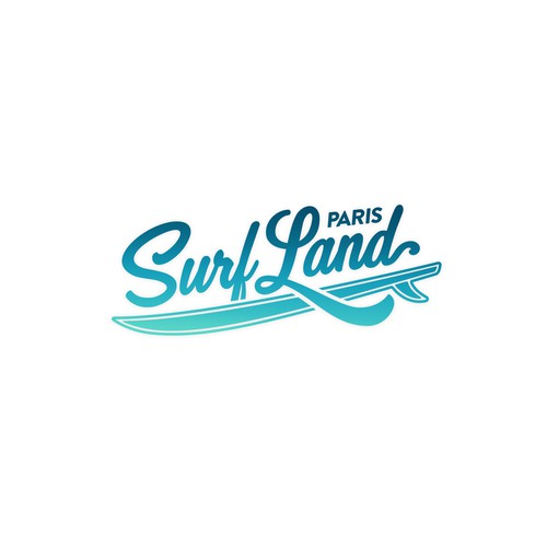 Surfer logo with the title 'Surfing / waterpark logo.'