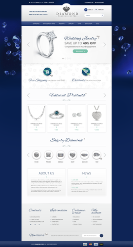 Online store website with the title 'Create the next website design for Dimond Trading Center'