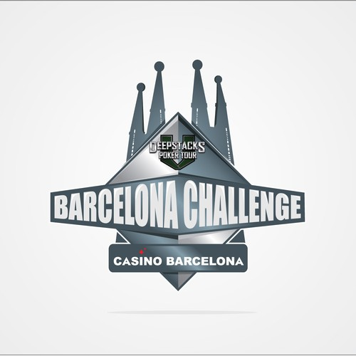 Tour logo with the title 'Create the next logo for DeepStacks Poker Tour Barcelona Challenge'