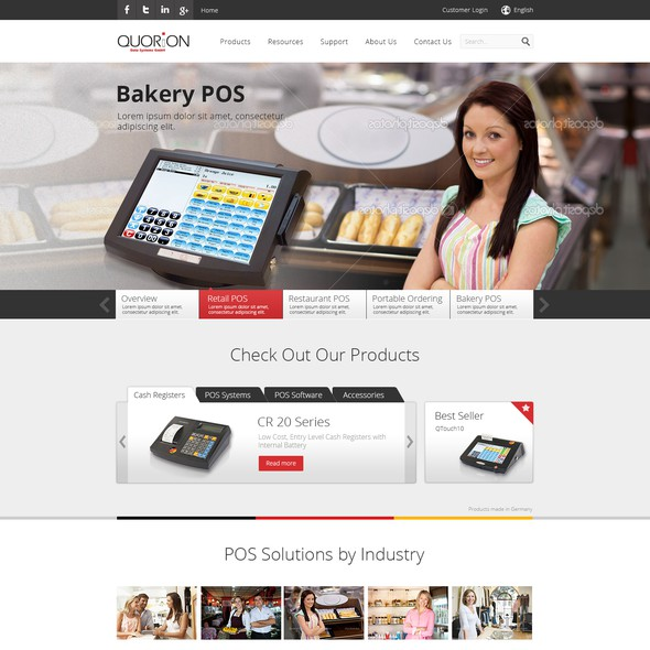 Clear website with the title 'QUORiON - B2B website design'