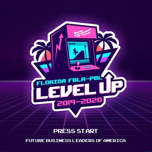 "Florida logo with the title 'Florida FBLA-PBL ""Level Up"" (logo)'"