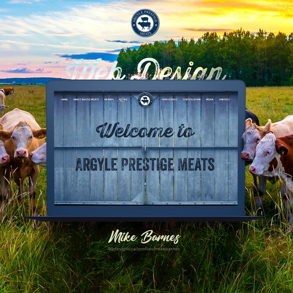 Agriculture website with the title 'Argyle Prestige Meats'