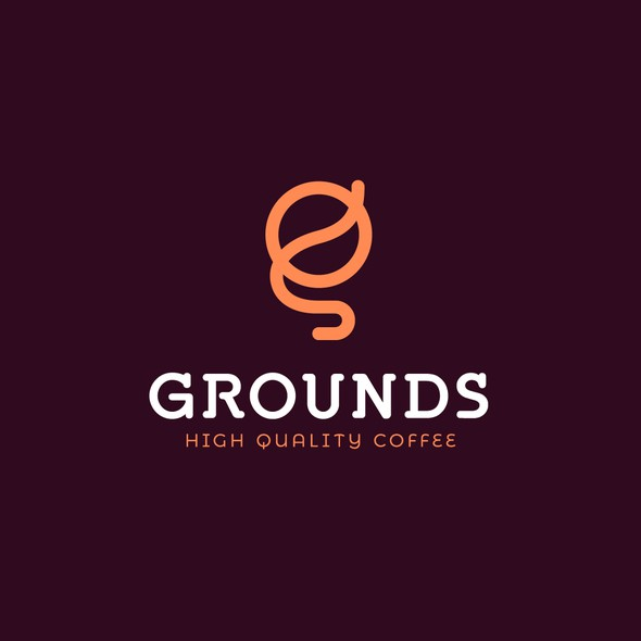 Ground design with the title 'Grounds Coffee'