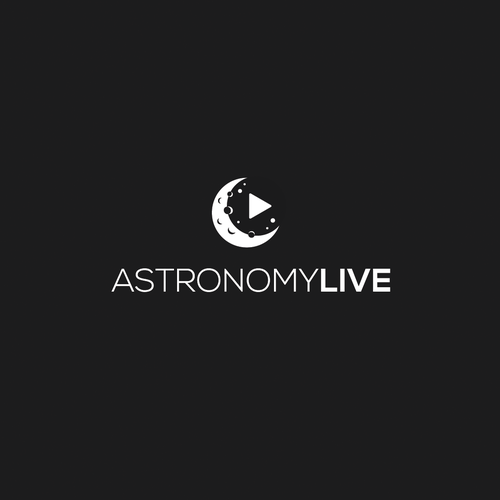 YouTube logo with the title 'Logo for a youtube channel about astronomy live report'