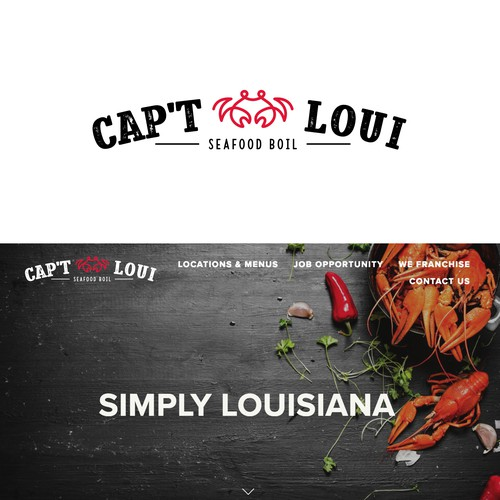 Seafood logo with the title 'Logo for cajun style seafood boil restaurant'