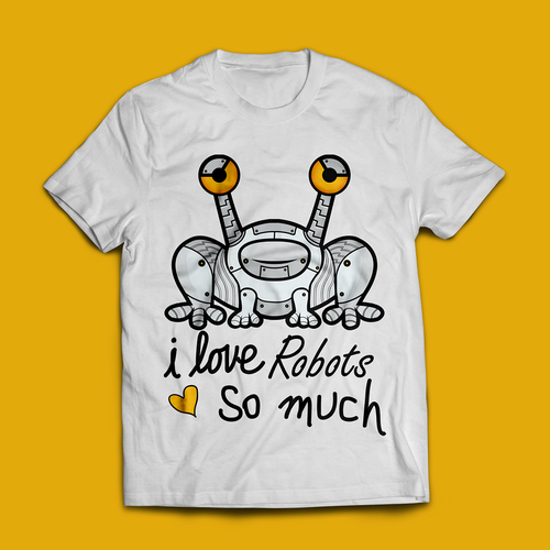 Robot t-shirt with the title 'T-shirt for Texas Robotics Competition'