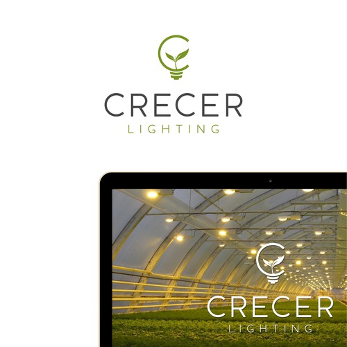 Bud logo with the title 'Crecer Lighting'
