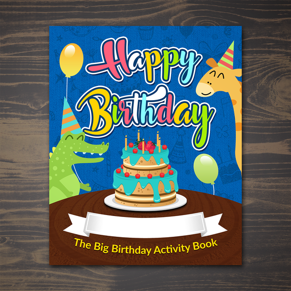 Colorful book cover with the title 'Happy Bithday Color Book (Boy)'