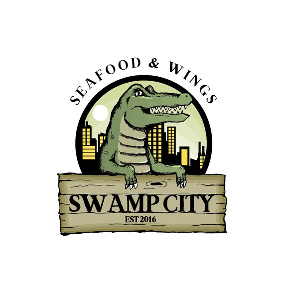 Swamp logo with the title 'restaurant logo'