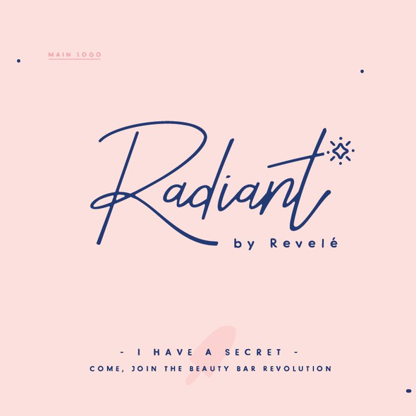 Navy blue logo with the title 'Logo for Radiant'