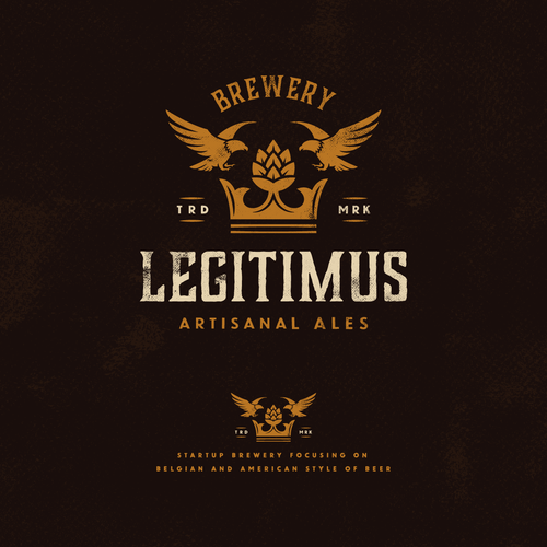 Brown logo with the title 'Brewery Legitimus'