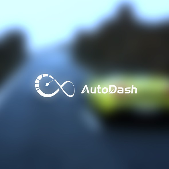 Speedometer logo with the title 'Autodash Logo'