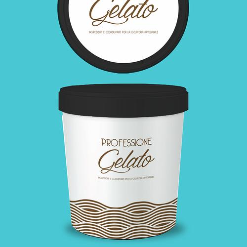 Gelato design with the title 'Rótulo para fábrica de Gelatos '