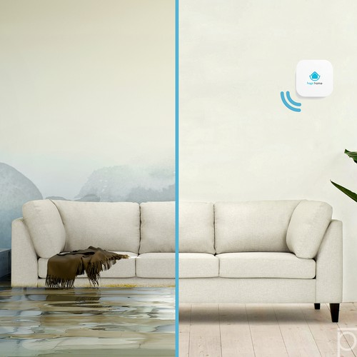 IoT design with the title 'Flood monitor'