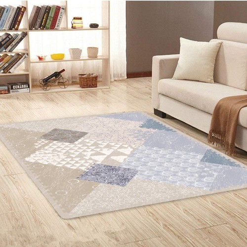 Puzzle design with the title 'Abstract patternd baby foam mat'