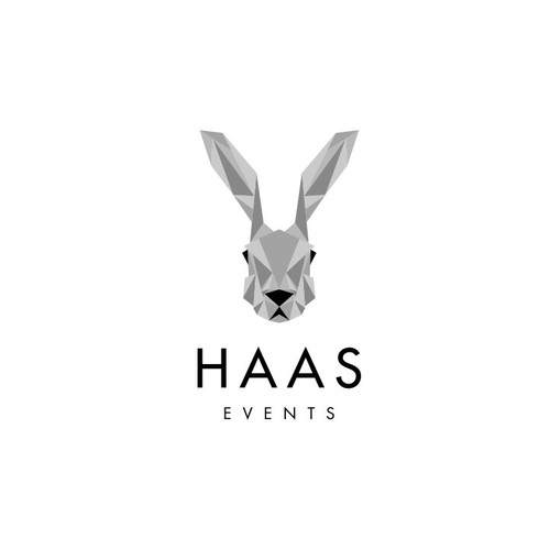 Low poly design with the title 'Logo design for Haas Events'