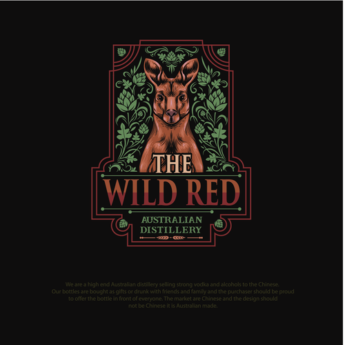 Aussie logo with the title 'Illustrated logo concept for The Wild Red'