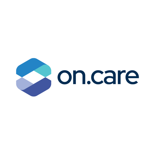 Cubic logo with the title 'On.Care Logo Design'