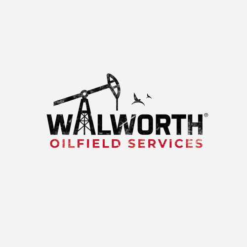 Oil logo with the title 'Wordmark for oilfield services'