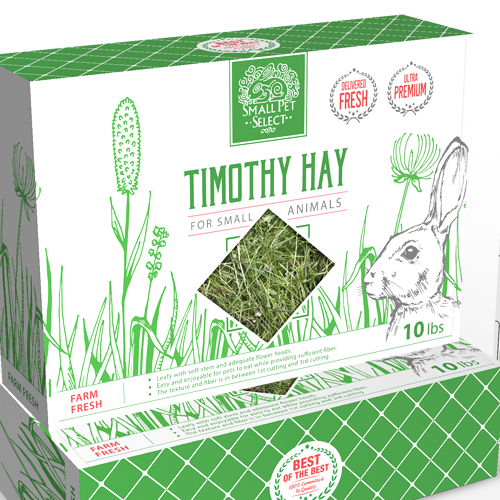 Bunny design with the title 'Timothy Hay Package'