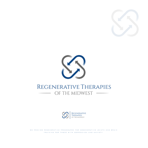 Depression design with the title 'Logo Regenerative Therapies'