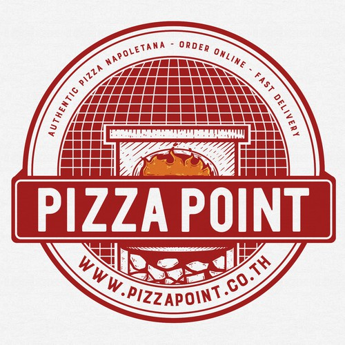 Pizza logo with the title 'Pizza Point'