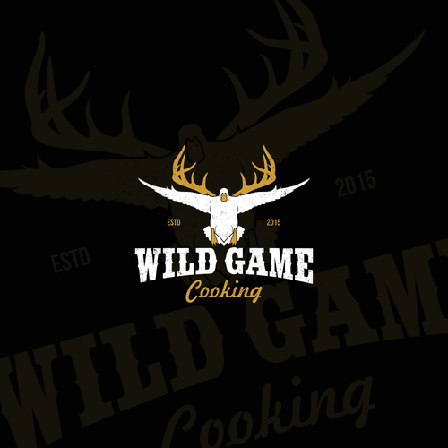 Duck logo with the title 'Create a Logo for Wild Game website'