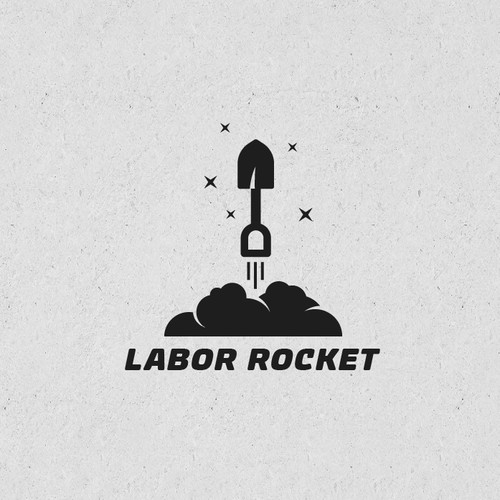Rocket brand with the title 'Dual meaning logo concept.'