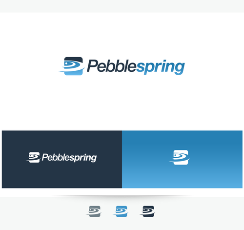 Stone logo with the title 'Logo for PebbleSpring'