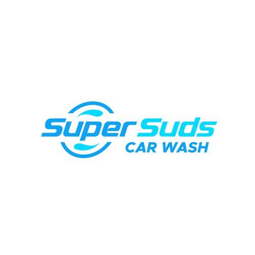 Auto design with the title 'Super Suds Car Wash'