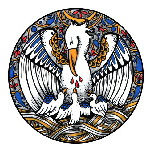 Catholic design with the title 'Catholic tattoo design'