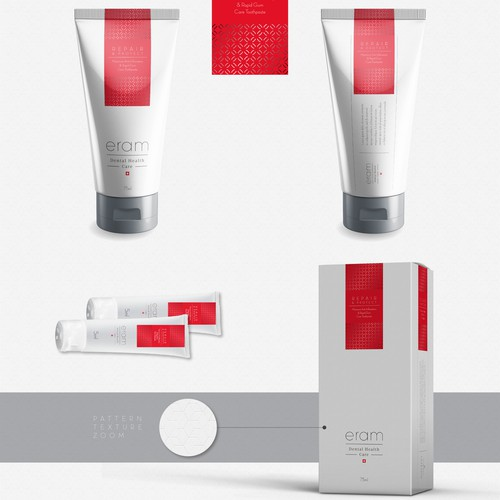 Sophisticated packaging with the title 'Eram dental care'