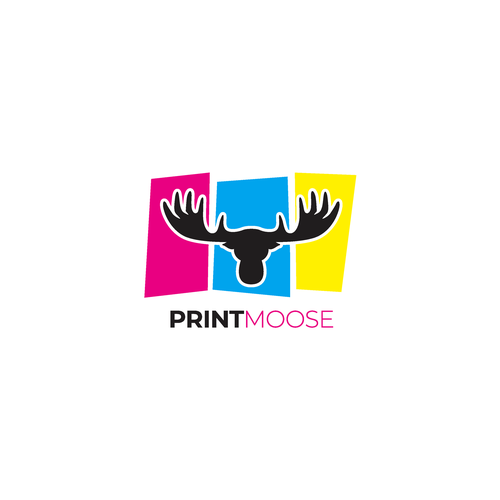 Printing logo with the title 'Printmoose Logo'