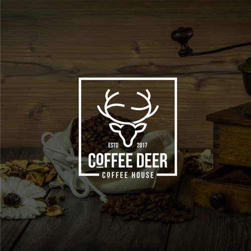 Deer logo with the title 'Coffee deer'