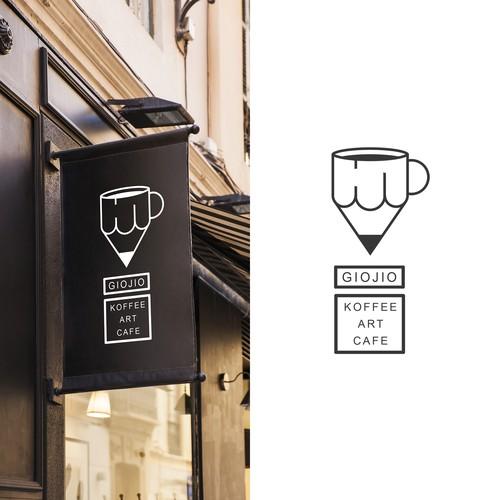 Cuisine design with the title 'Logo for coffee roastery | bar | world cuisine'
