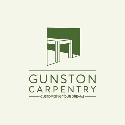 Carpentry design with the title 'logo for carpentry'