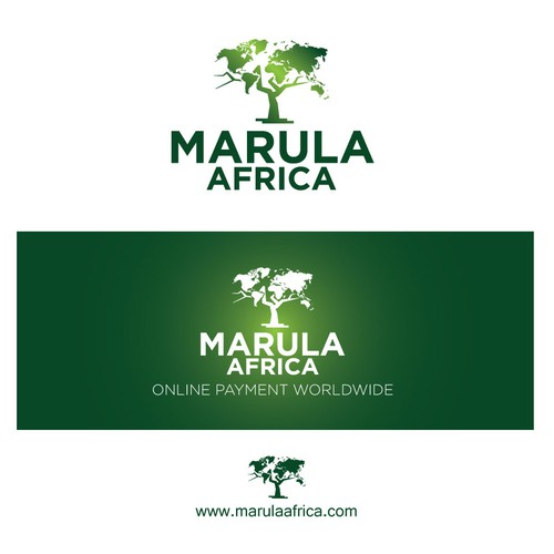 World map design with the title 'Marula Africa'