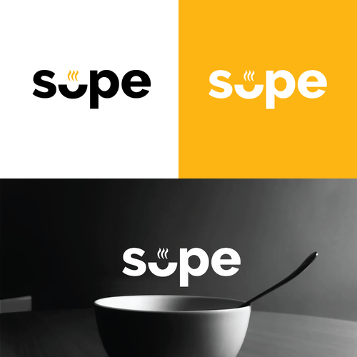 Food delivery logo with the title 'Logo Design entry for Soup Delivery '