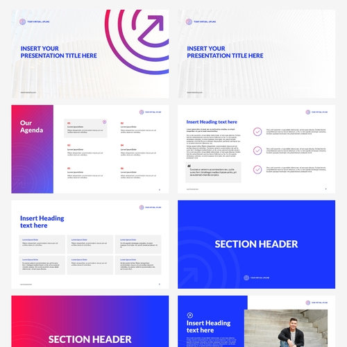 Whitespace design with the title 'Clean Bold Vibrant Powerpoint Template'