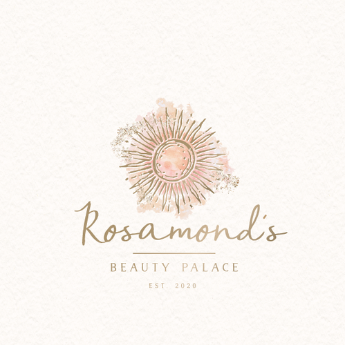 Bohemian design with the title 'rosamonds beauty palace'