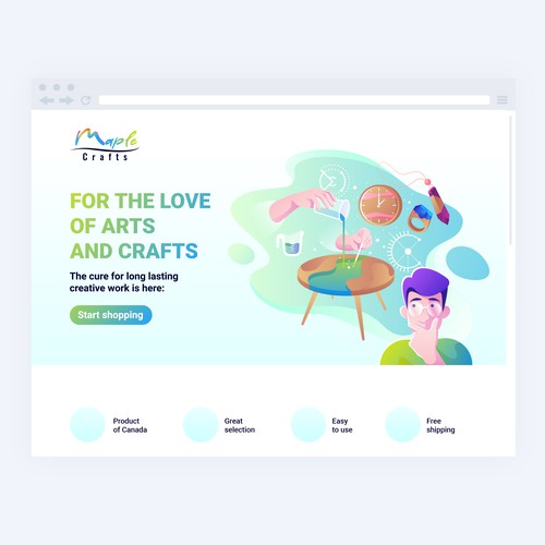People artwork with the title 'Creative Landing Page and Web Page'