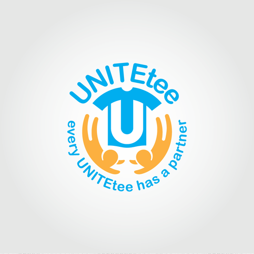 U logo with the title 'Logo for t-shirt concept'