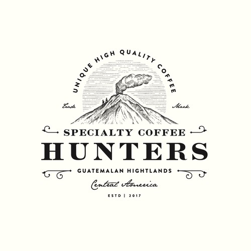 Retro logo with the title 'Specialty Coffee Hunters'