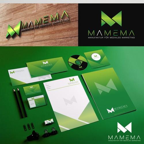 Envelope logo with the title 'Online-Marketing-Agentur sucht ein Logo'