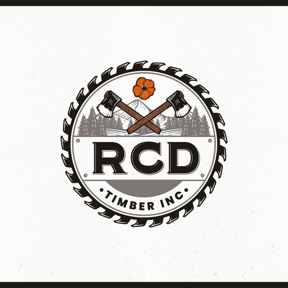 Logging logo with the title 'Design a Pacific NW logo for a family oriented logging company'