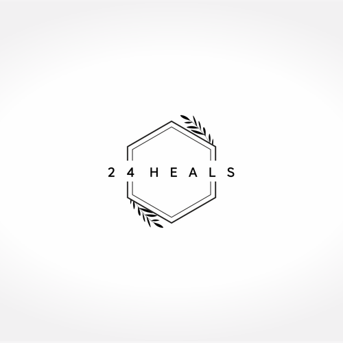 Health and beauty logo with the title '24 Heals'