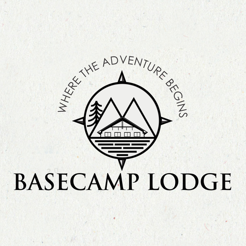 Lodge design with the title 'Motel to re brand to the lodge'