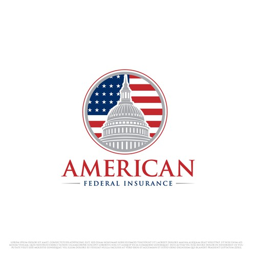 American flag logo with the title 'American Federal Insurance'