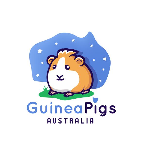 Guinea pig design with the title 'Guinea Pigs Australia logo'
