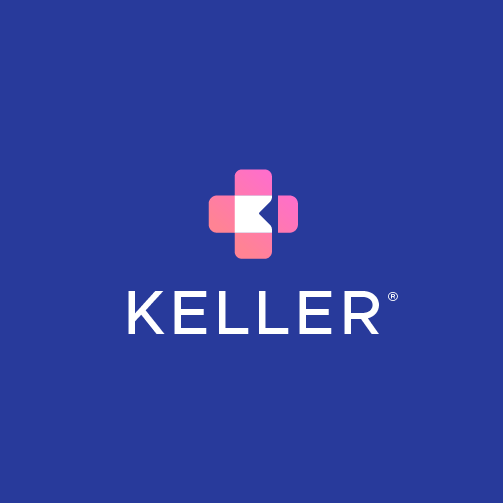Pink and orange design with the title 'KELLER'